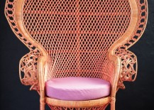 Pink Peahen Chair from Millie Eugene 217x155 DIY Peacock Chair Ideas