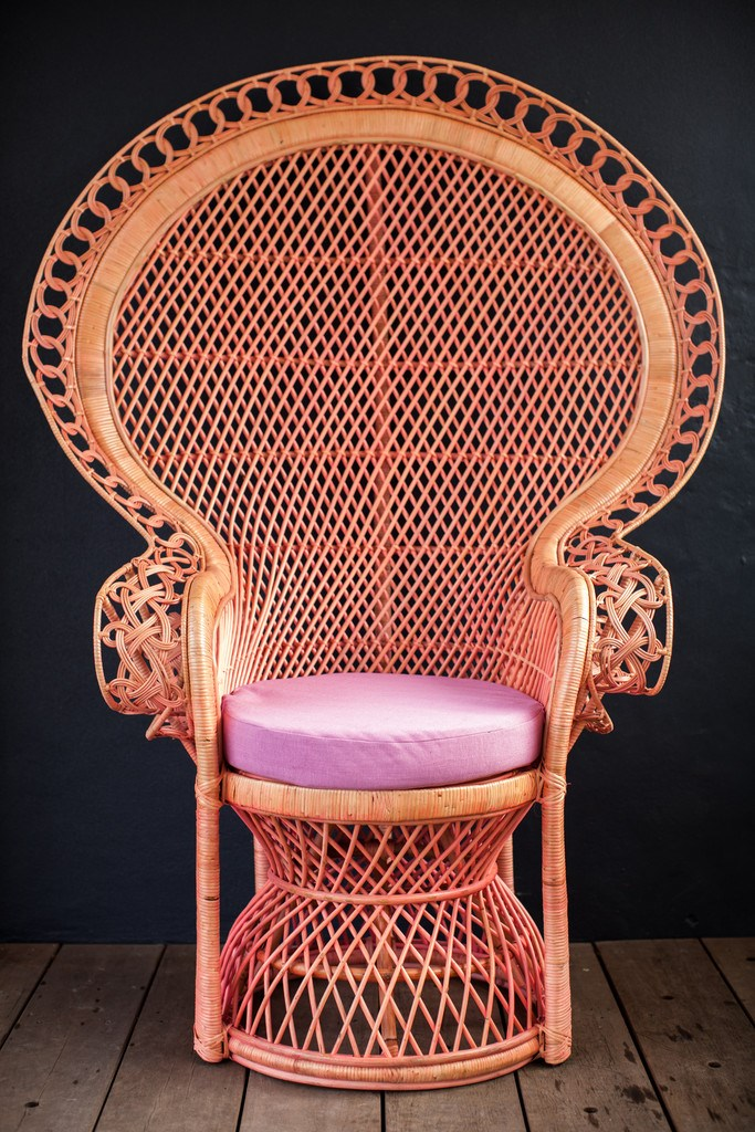Pink Peahen Chair from Millie + Eugene