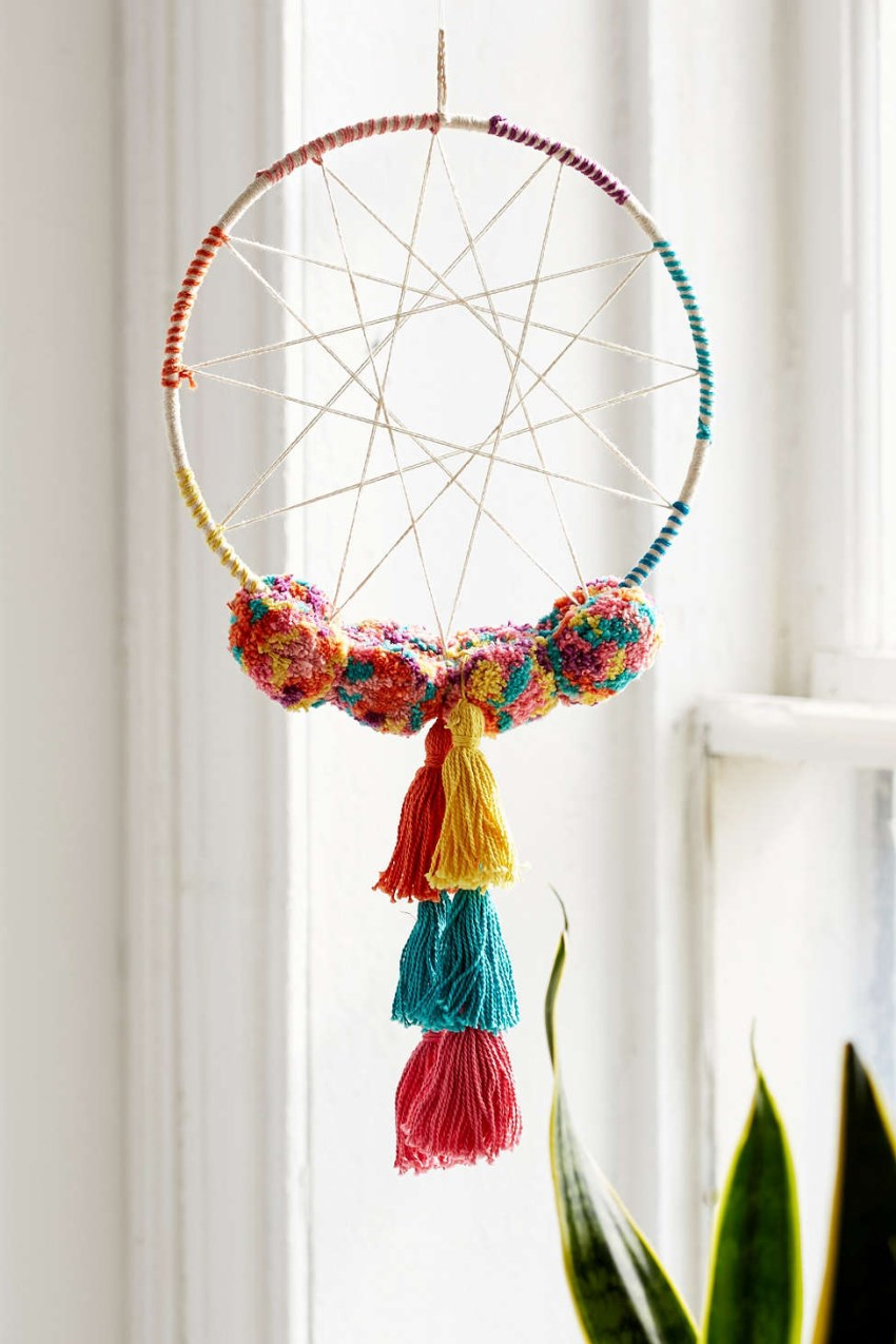 Pom pom dream catcher from Urban Outfitters