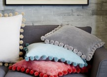 Pom pom pillow covers from West Elm