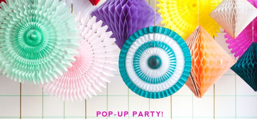 Pop-up party supplies from the Oh Happy Day shop