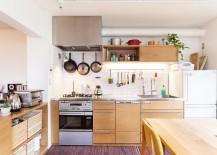 Posh industrial kitchen with an Oriental twist! [Design: Blue Studio]