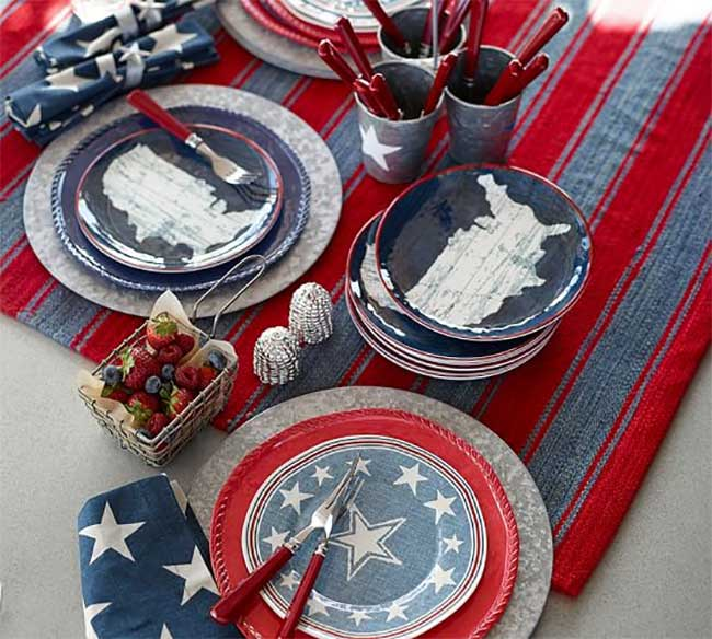 View in gallery ... & Festive Red White and Blue Tablescape Ideas for a Sizzling 4th of July!