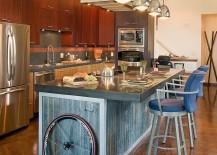 Reclaimed-corrugated-siding-used-to-shape-the-kitchen-island-217x155
