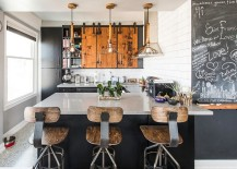 Reclaimed materials shape this unique kitchen [Design: Bailey General Contracting]