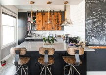 Reclaimed-wood-bar-stools-lighting-and-chalkboard-paint-give-the-kitchen-great-textural-contrast-217x155