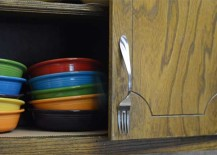 Recycled DIY Fork Cabinet Pull