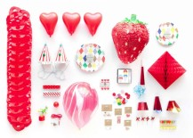 Red party supplies from the Oh Happy Day Shop