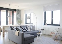 Refined living room in gray and white with chic decor