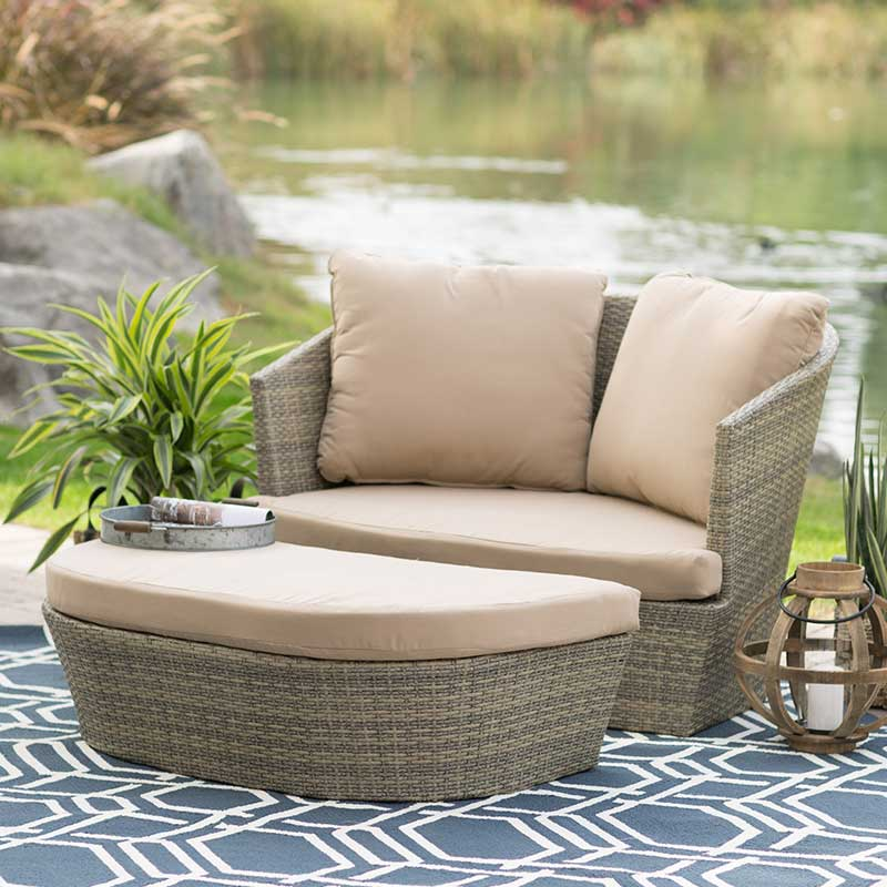 Resin Wicker Daybed