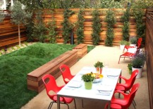 San Francisco dining space with a lush lawn