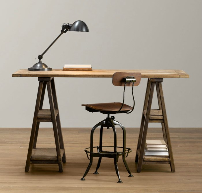 15 home offices featuring trestle tables as desks Sawhorse desk legs