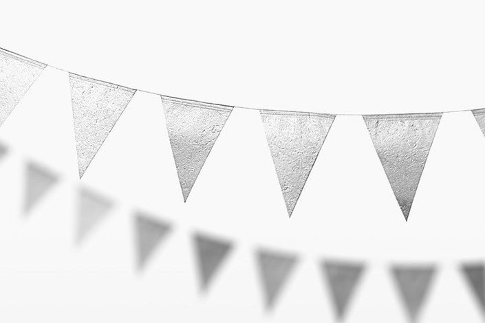 Silver flag banner from Minted