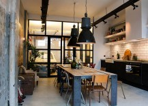 Simple-and-spacious-industrial-kitchen-design-with-black-pendants-that-stand-out-visually-217x155