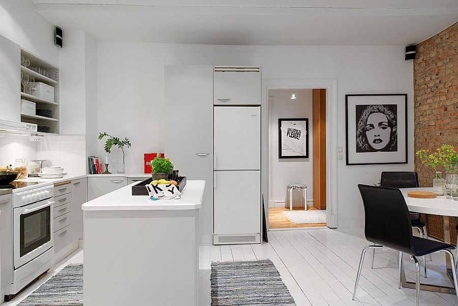Embracing Scandinavian Simplicity Cozy Chic Apartment in   -> Projekt Kuchni Black Red White