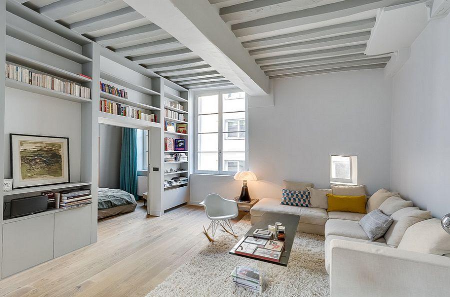 Small Paris apartment with space-saving design [Design: Tatiana Nicol EURL]