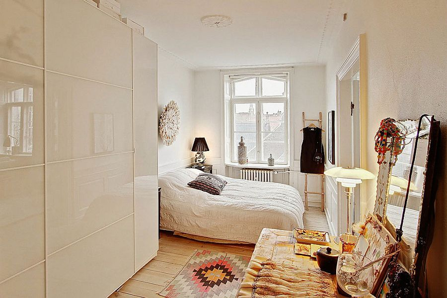 Small bedroom design idea with Scandinavian style