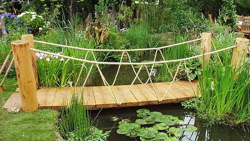 small garden bridge idea decoist