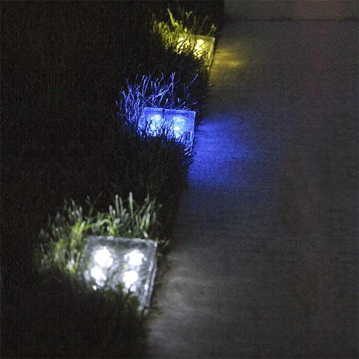 Solar Powered Paver Bricks Blue