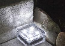 Solar Powered Paver Bricks White