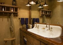 rustic bathroom pics.  components of the bathroom that defines its style and theme is vanity A simple change in can bring subtle rustic flavor you 50 Enchanting Ideas for Relaxed Rustic Bathroom