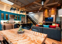 Studio-inspired industrial lighting for the modern home [Design: Beyond Beige Interior Design]