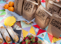 Stylish picnic packs from Oh Happy Day