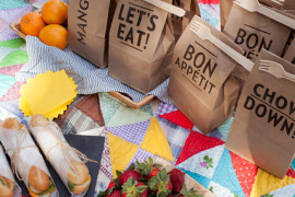 Stylish picnic packs from Oh Happy Day  Picnic Ideas: Style Tips for a Relaxed Outdoor Meal Stylish picnic packs from Oh Happy Day 270x180