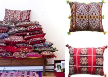 Tassel pillows from Baba Souk 217x155 Design Trend: Tassels and Pom Poms