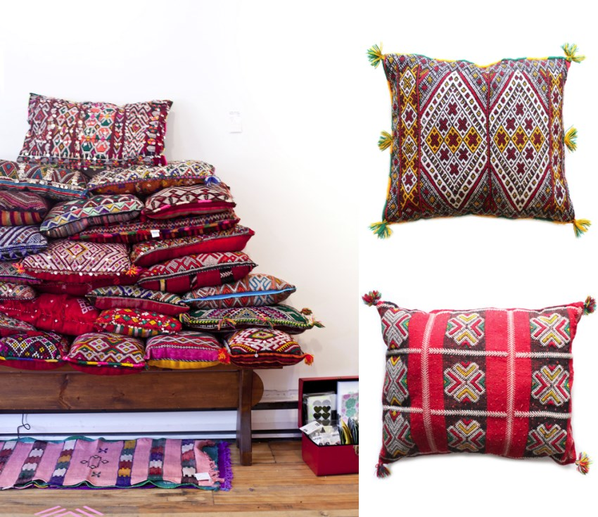 Tassel pillows from Baba Souk