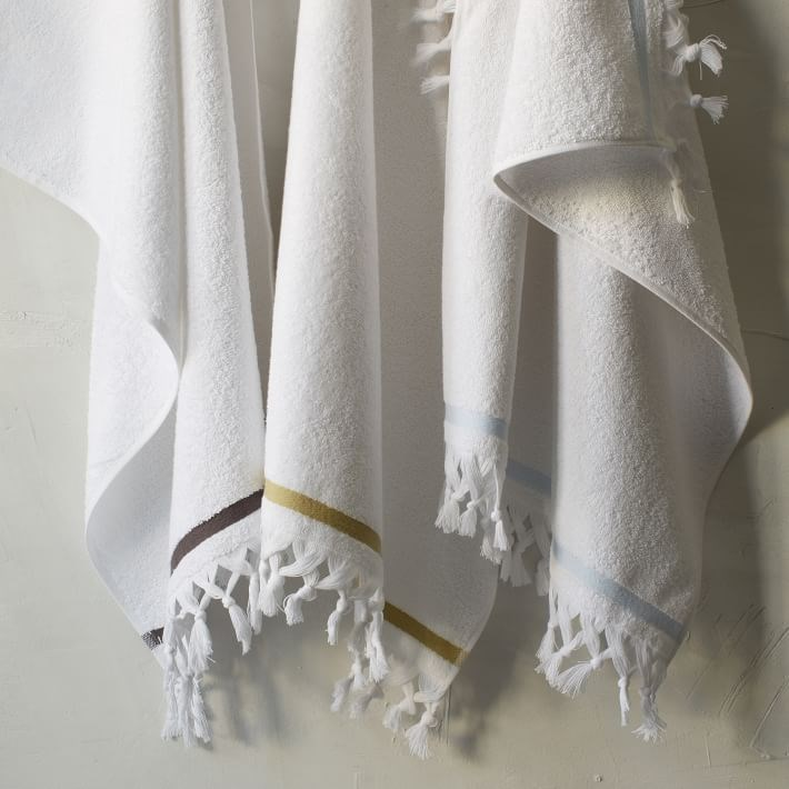 Tassel terry cloth towels from West Elm