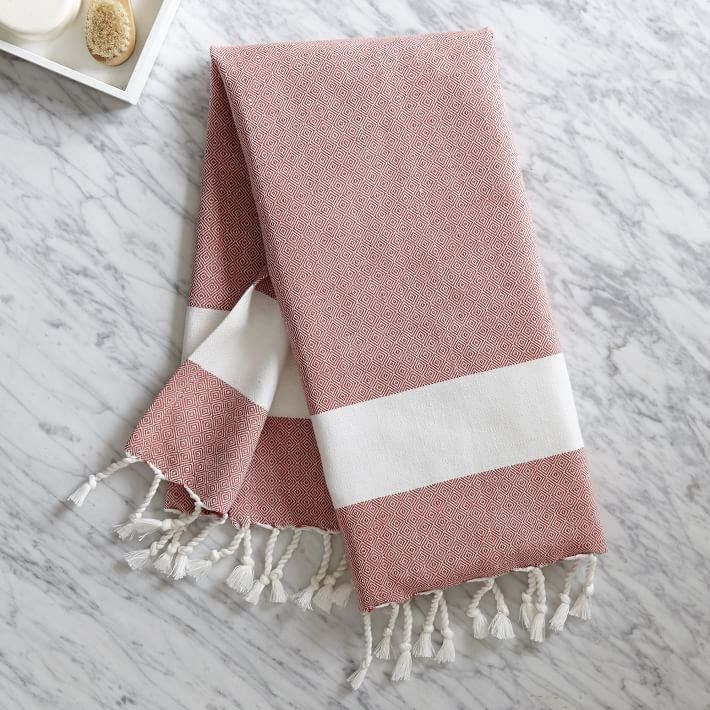 Tassel towel from West Elm