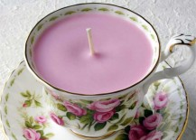 Teacup Candle Made with Vintage Teacup