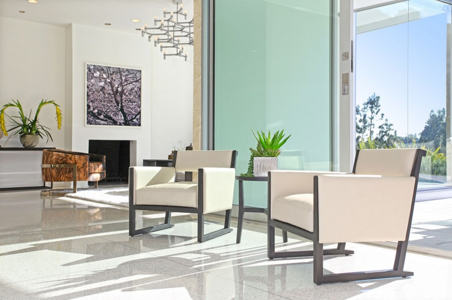 Terrazzo tile in a modern living room