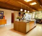 Terrazzo tile in a warm-toned modern kitchen