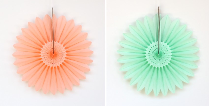 Tissue paper fans from Minted