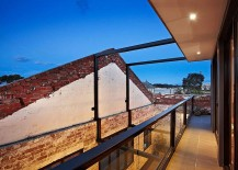 Top level balcony of the old warehouse turned into modern home