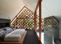 Top level bedroom with custom timber screen