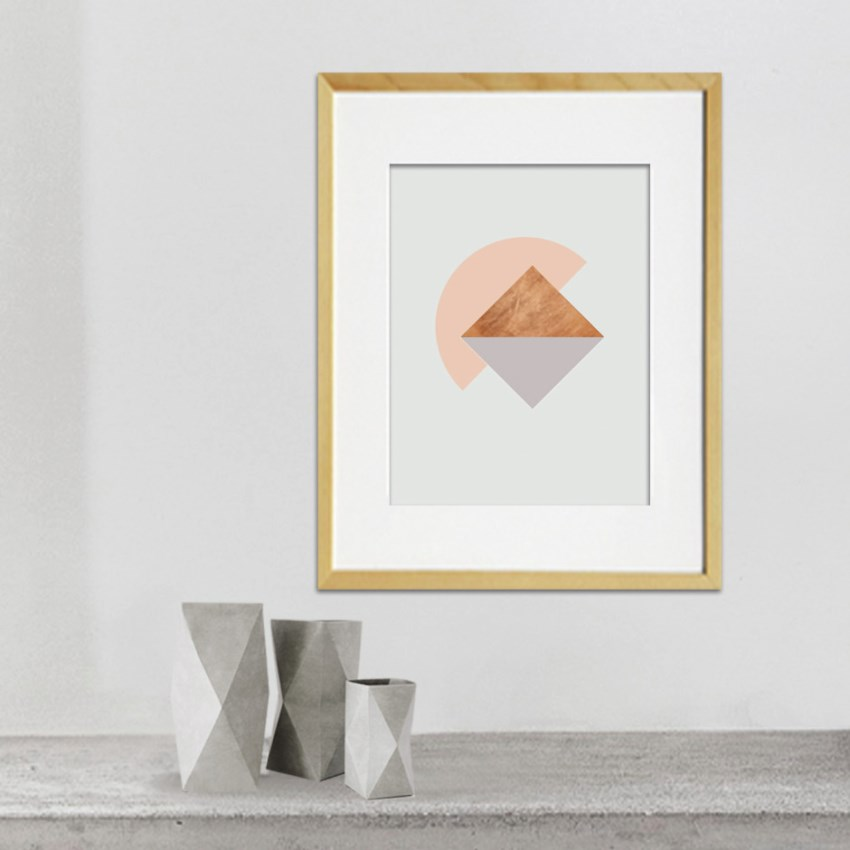 Triangle poster by KAMI. DESIGN