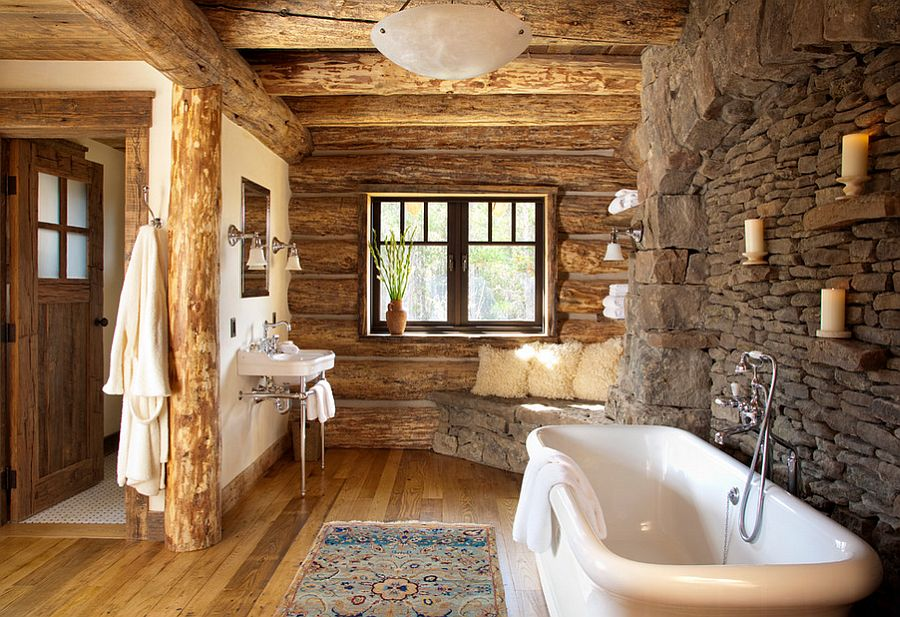 Enchanting Ideas For The Relaxed Rustic Bathroom