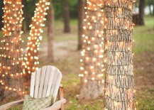 Twinkle Light Wrapped Trees