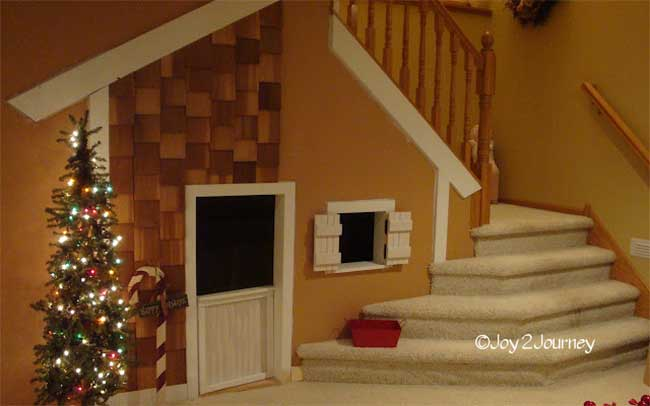 Under Stair Playhouse with Shingles