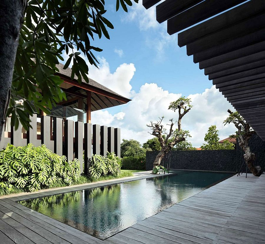 Unique design of the pool area offers ample privacy