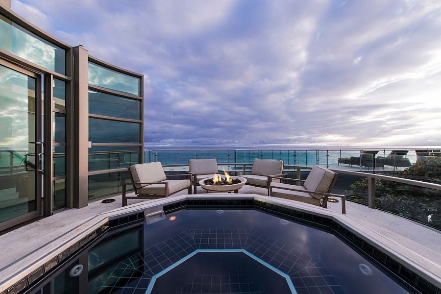 View from the private deck of the lavish Malibu beach house Living a Dream Next to the Ocean: Sensational Malibu Beach House
