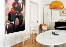 Wall-art-and-pendant-lighting-bring-color-to-the-dining-room-217x155