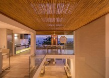 Warm lighting adds to the inviting aura of the home