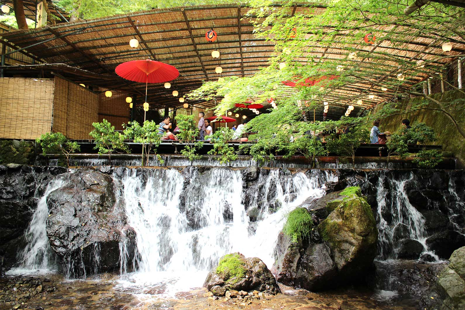 Waterfall Dining in Kibune Kyoto Japan