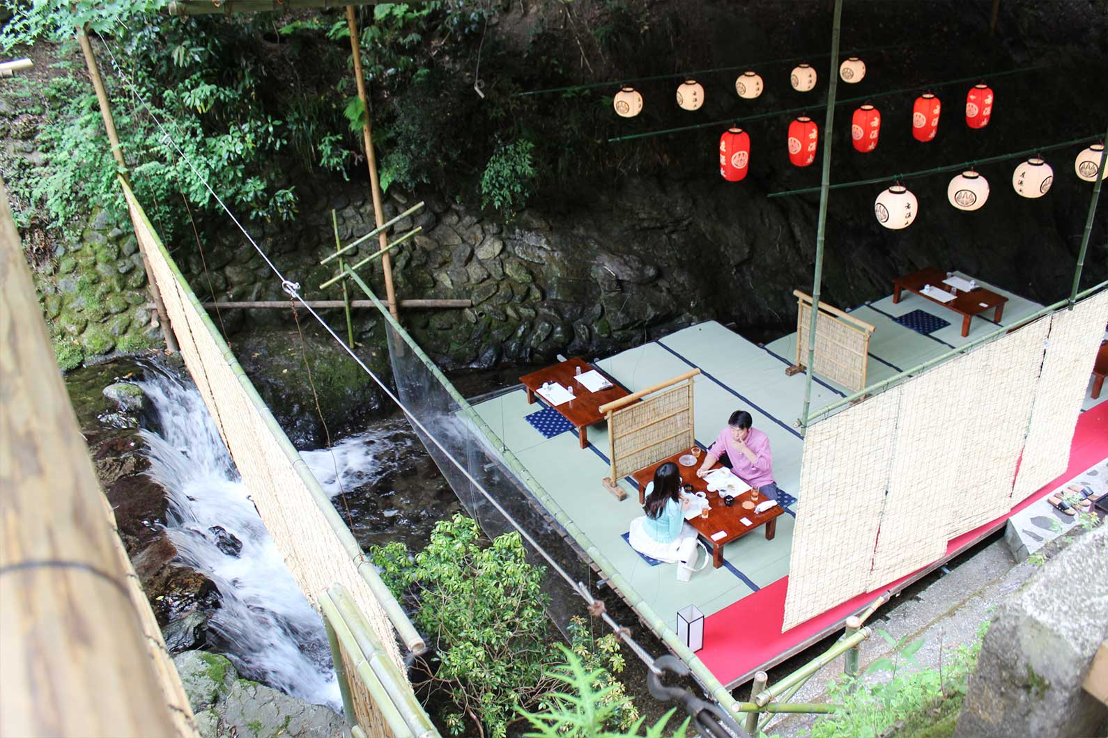 Waterfall Restaurant in Kibune
