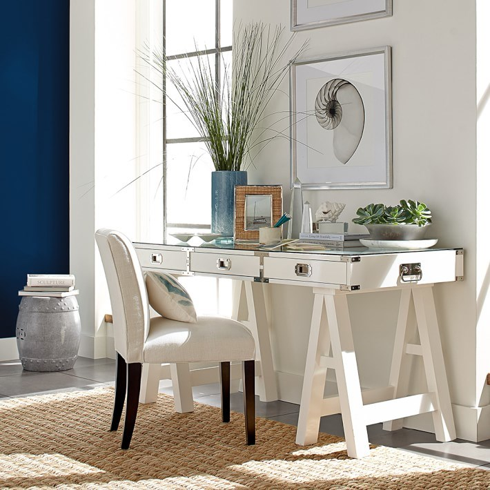 White trestle desk from Williams-Sonoma Home