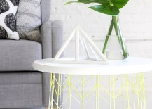 Wire basket side table from I Spy DIY